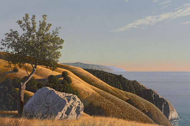 Big Sur Landscape: Grimes Point, 2012 o/c, 40 x 60 in. Winfield Gallery, Carmel, CA