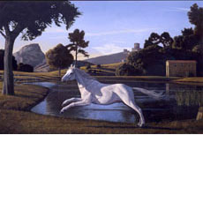 Landscape with a Running Horse