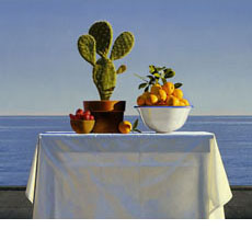 Still Life with Cactus and Oranges