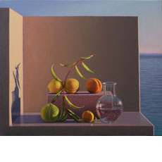 Still Life with Peaches and Water (Aparchai)