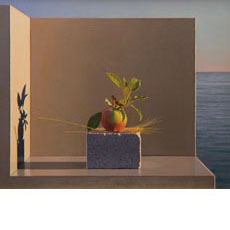 Still Life with Apple and Wheat (Aparchai)
