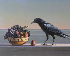 Still Life with fruit and Crow