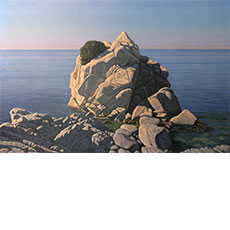 Seascape with Large Rock