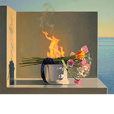 Still Life with Burning Flowers, (Offering)